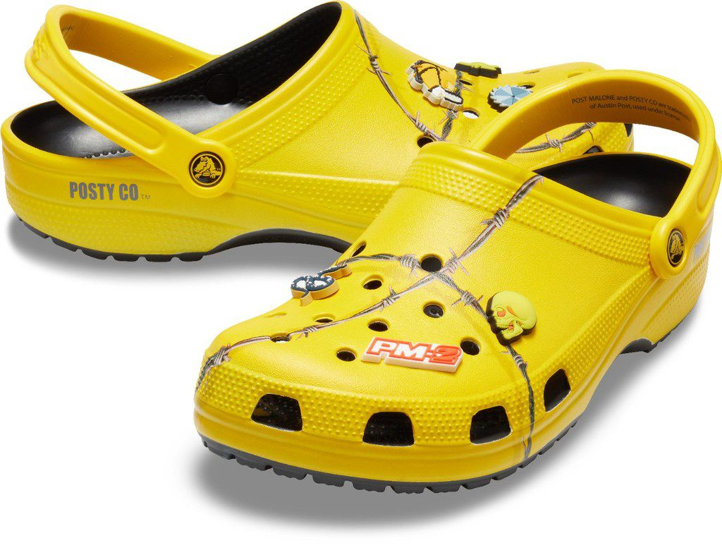 Crocs partnered with Post Malone in December 2018 to release a pair of Post Malone X Crocs Barbed Wire Clog for $59.99. They sold out almost immediately.