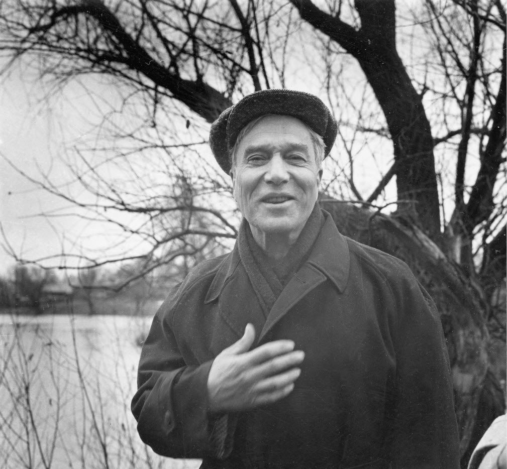In this Oct. 23, 1958, file photo, writer and poet Boris Pasternak is shown near his home in the countryside outside Moscow. Pasternak of the Soviet Union initially accepted the 1958 Nobel Prize in literature but was later forced by the Kremlin to decline it. (Associated Press File Photo/Harold K. Milks)