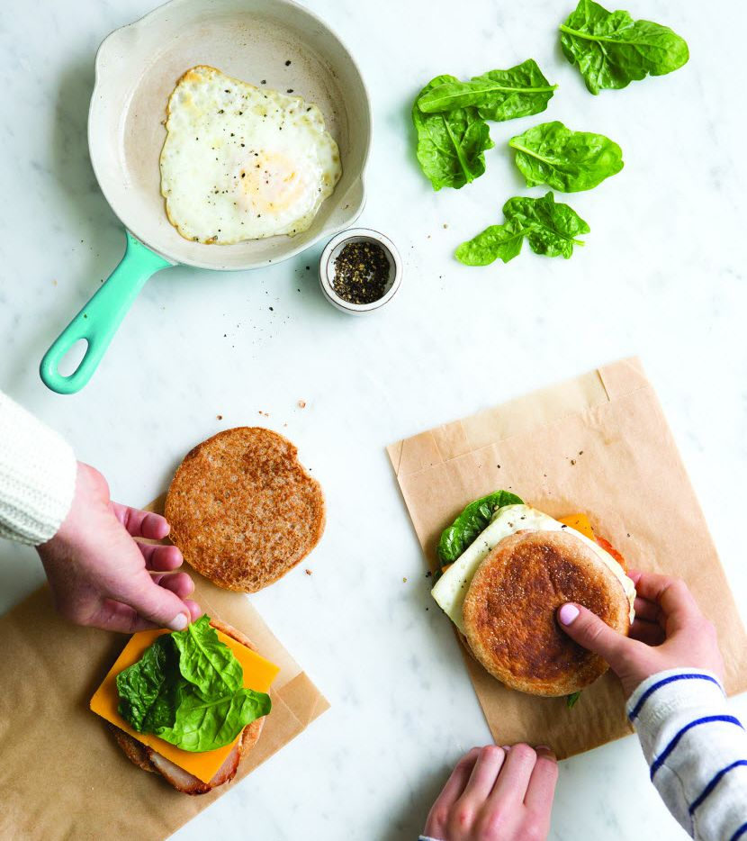 With the Drive-Through Egg Sandwich from Rise and Shine by Katie Sullivan Morford, everything gets done in one pan.