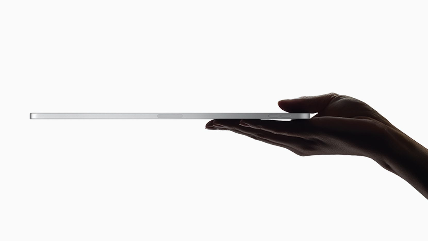 The new iPad Pro's case is squared-off aluminum that's really easy to hold.