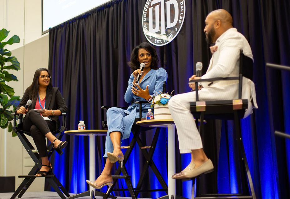 Courtney Caldwell, co-founder of ShearShare, a popular salon and barbershop booth rental app, discussed the launch of her business at last year's UT Dallas Women's Summit. Capital One is the title sponsor of WEDallas and sponsor of UT Dallas' Institute for Innovation and Entrepreneurship.