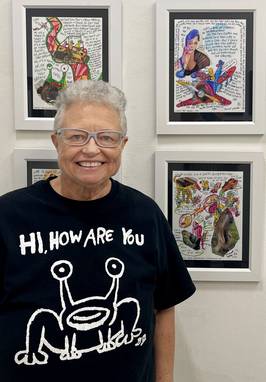 Marjory Johnston photographed at Ro2 Art in the Cedars on June 26, 2021. (Jordan Roth)