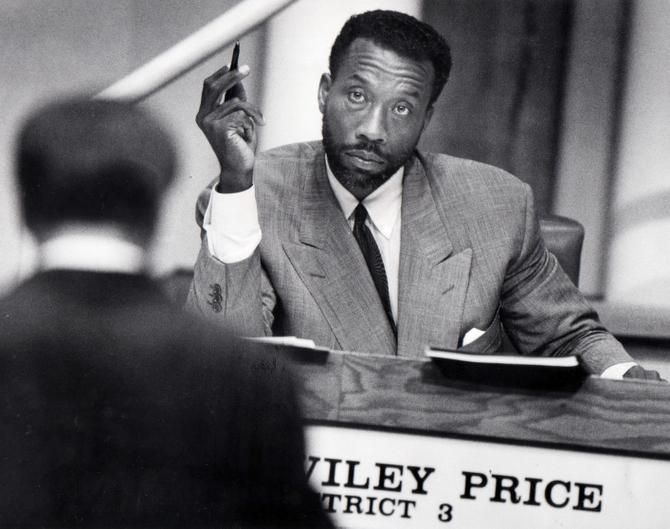 After losses in lesser races, in 1984 Price became the Commissioners Court's first black member.