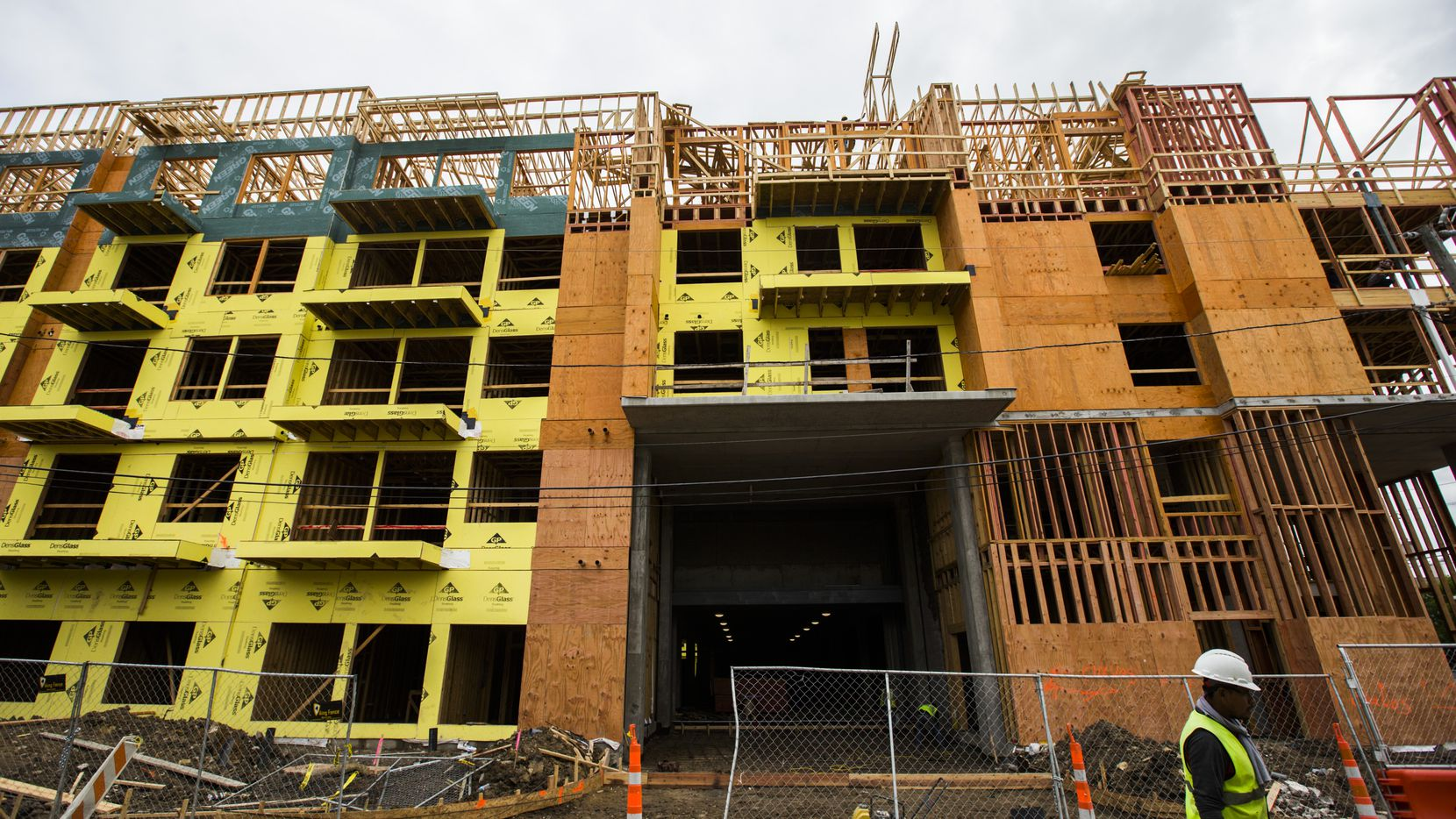 Residential construction starts were down 4% in January.