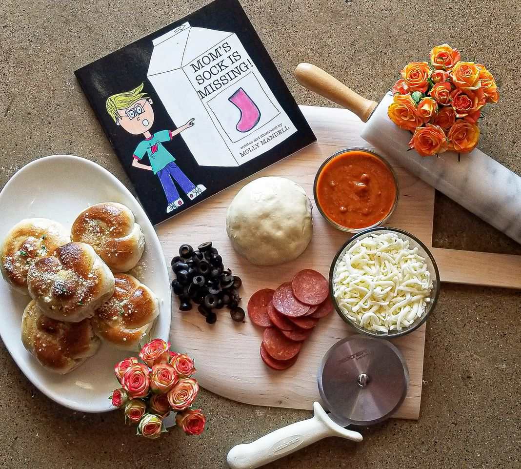 "Greenville Avenue Pizza Company offers a Mother's Day pizza kit for $25. Each kit also features a book, ""Mom's Sock is Missing!"""