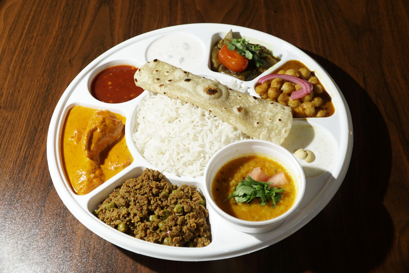 Meat Thali dish at 8 Cloves in Dallas