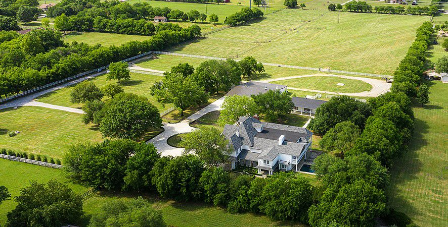 The 14-acre estate in Parker is one of the largest spreads in that area.