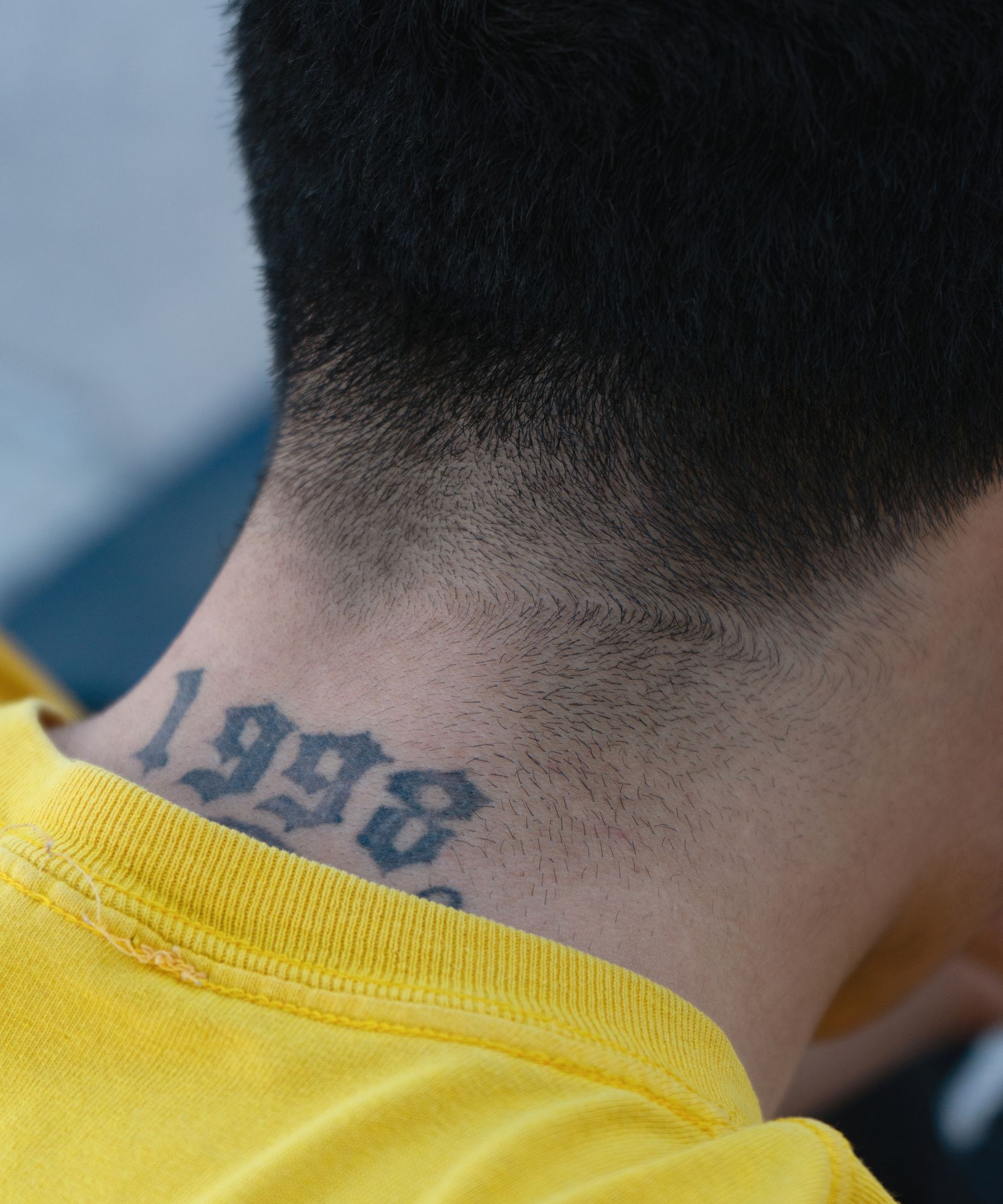 A photo by Fort Worth photographer Raul Rodriguez shows a skateboarder's tattoo.