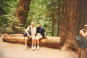 Dave and Patti Stevens, shown here in an undated family photo in a redwood forest. This was among the photos that Patti Stevens left in her kitchen beside a note addressed to a reporter.