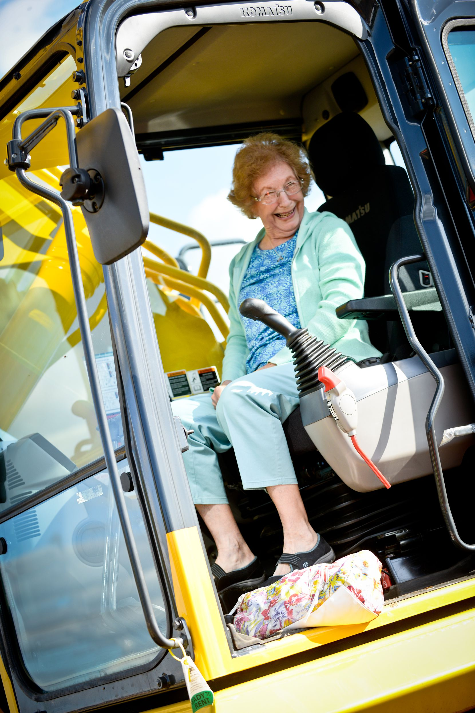 Guests at Extreme Sandbox can take a spin in an excavator with the help of trained operators.
