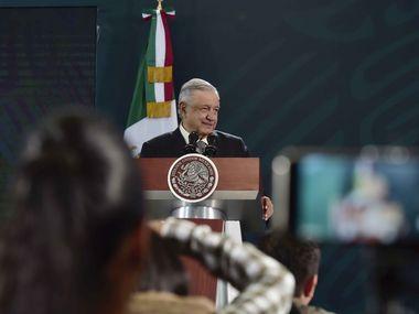 Andrés Manuel López Obrador estuvo en San Luis Potosí, el día que informó que se contagió de covid-19.