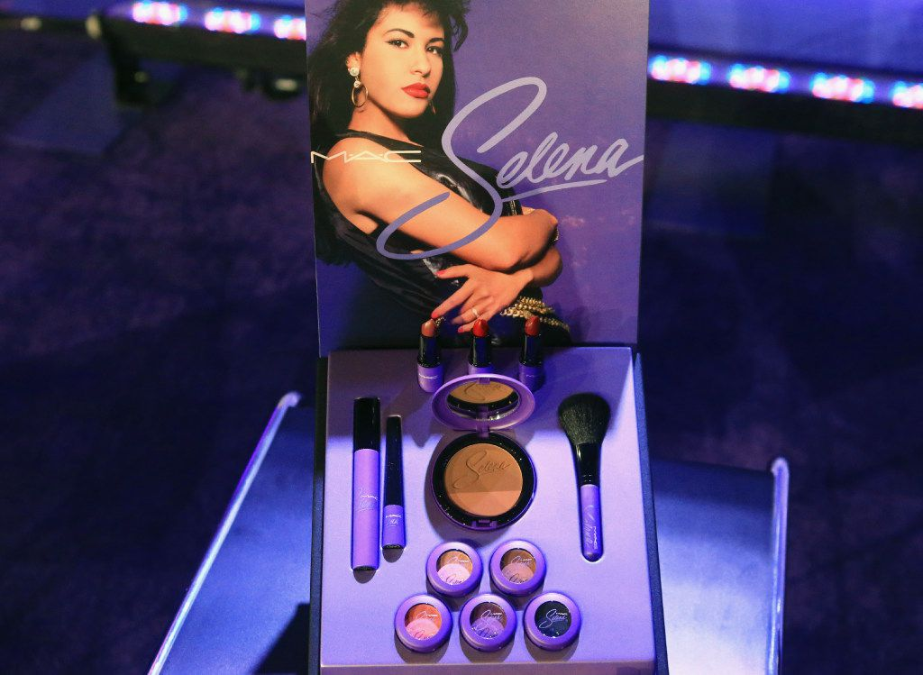 """The MAC Selena makeup collection, which includes lipstick, blush, eye shadow, eyeliner and mascara, was inspired by the late """"Queen of Tejano,"""" who was killed in 1995."""