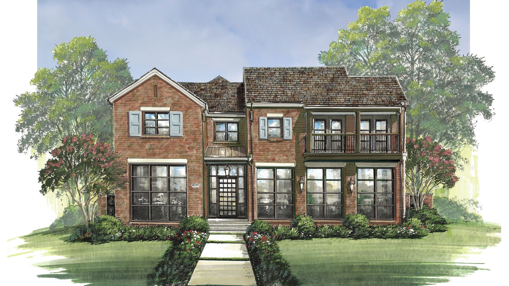 Alford Homes' design at 3700 Bryn Mawr Drive, pictured in this rendering, is priced at $3,925,000 and should be completed this fall. It is available for touring from 1 to 5 p.m. today.