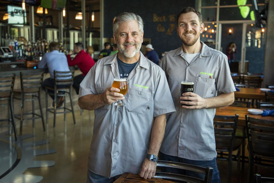 President/Co-Owner Chuck Homola (left) and Vice President/Co-Owner Jonathan Barrows opened Steam Theory Brewing Company in 2018.