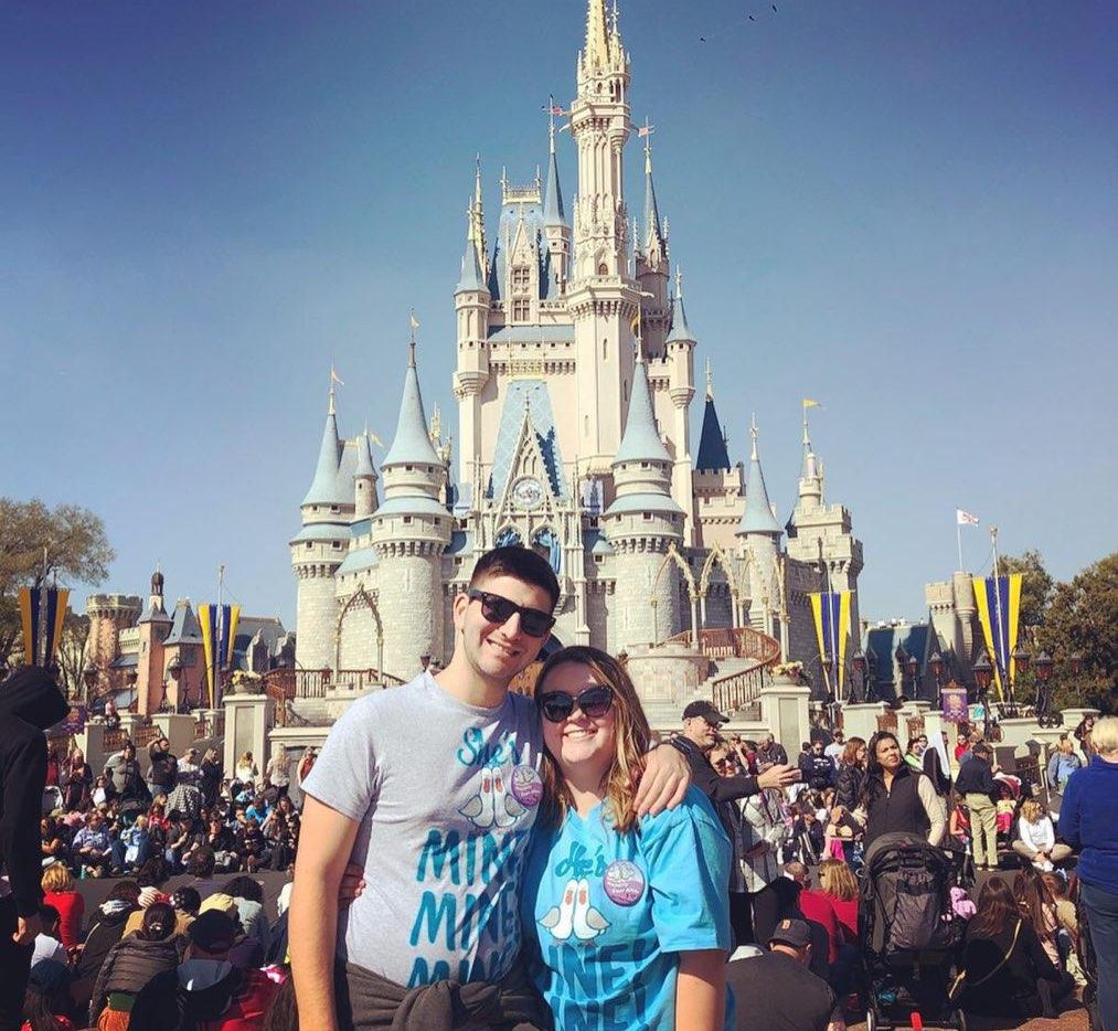 Jake Stoler and girlfriend Kaelyn Beam at Disney World. Stoler, a Plano West graduate, had landed a spot in Disney's College Program and was working as a concierge at a resort before the coronavirus outbreak.