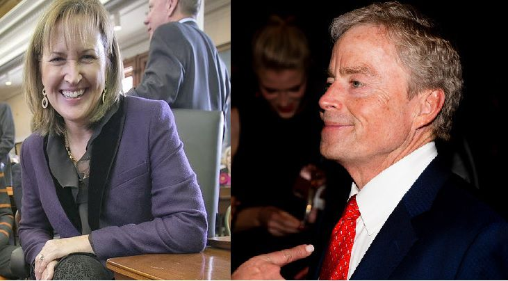 Texas state senators Konni Burton (left) and Don Huffines appeared headed for defeat late Tuesday, signaling a major shift in the conservative upper chamber of the Legislature.