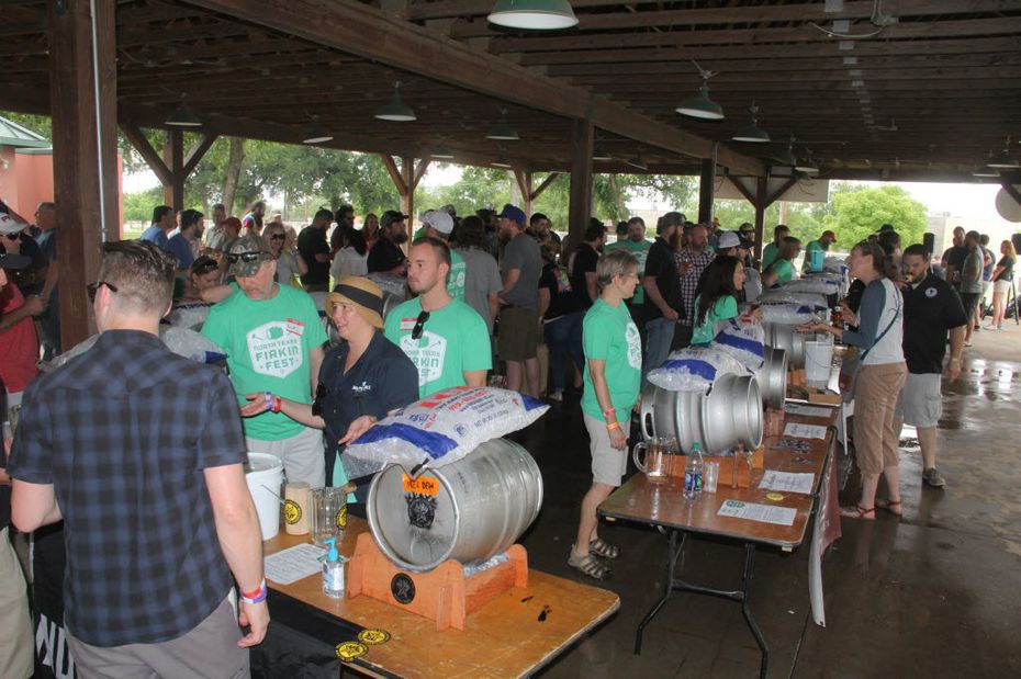 The North Texas Firkin Fest brought brewers together to taste Texas craft beer from casks (or firkins) several years ago.