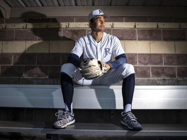 Jesuit senior shortstop Jordan Lawlar, 18, in the dugout of the Rangers on the campus of Jesuit College Preparatory School of Dallas, on Tuesday, May 04, 2021.