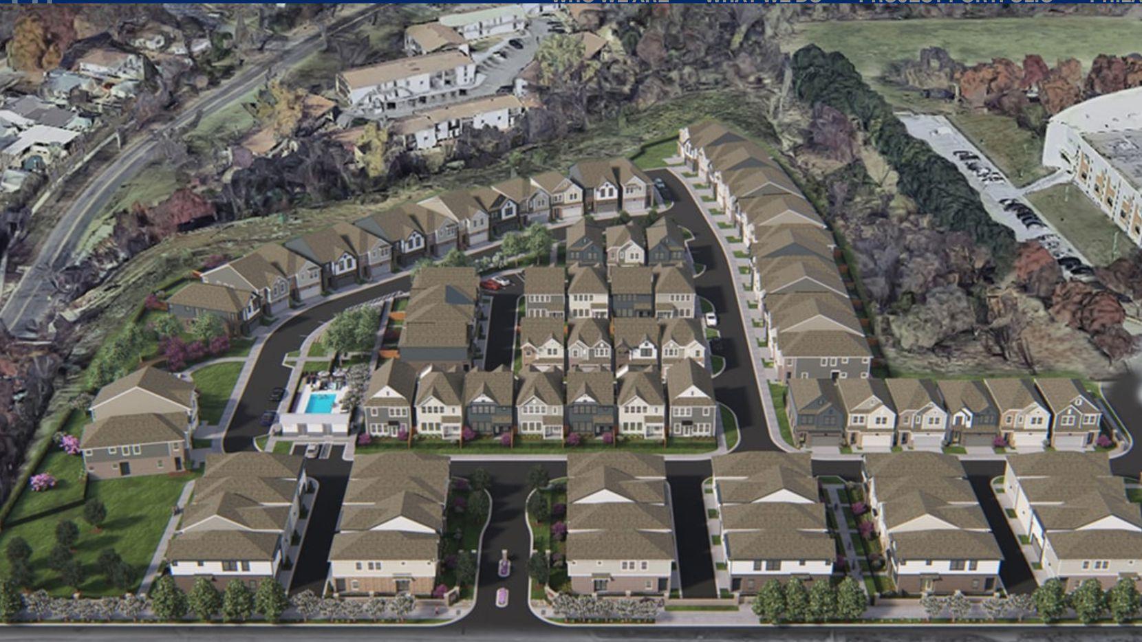The new Echelon at Reverchon Bluffs rental home community is being built on West Davis Street in Oak Cliff.