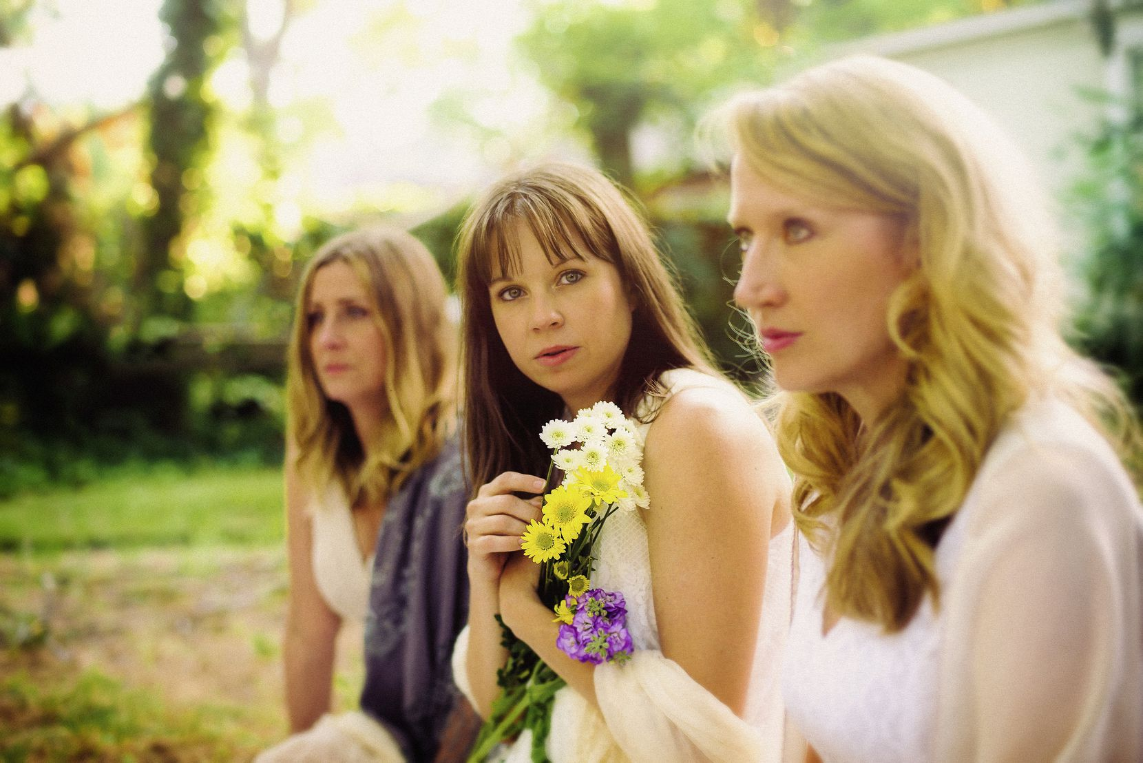 """From left: Lydia Mackay, Jenny Ledel and Jessica D. Turner star in Blake Hackler's """"What We Were"""" at Second Thought Theatre and Circle Theatre."""
