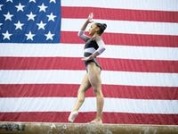Konnor McClain, who recently moved to Texas to train at WOGA under Valeri Liukin, competes at the 2019 U.S. Championships.