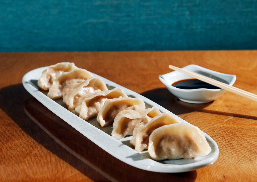 Pork dumplings at Hello Dumpling in Dallas on Thursday, March 15, 2018. (Vernon Bryant/The Dallas Morning News)