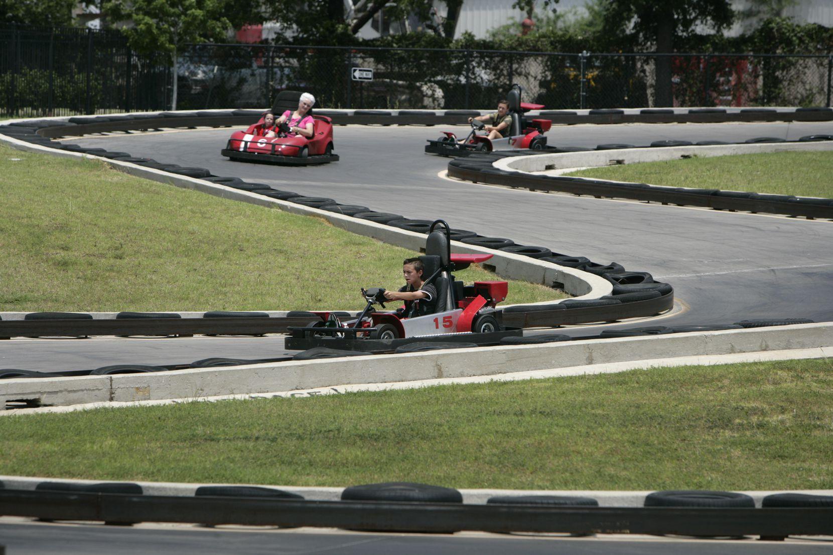 The SpeedZone racetrack was on Stemmons Freeway.