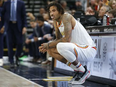 Golden State Warriors center Willie Cauley-Stein waits to enter the game in the second half during an NBA basketball game against the Utah Jazz Friday, Dec. 13, 2019, in Salt Lake City.