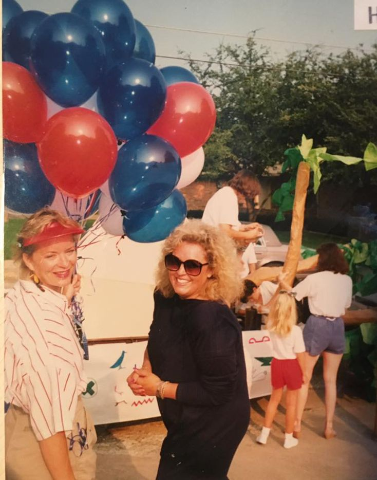 Vickie Thompson (right) at a Lakewood Fourth of July parade.