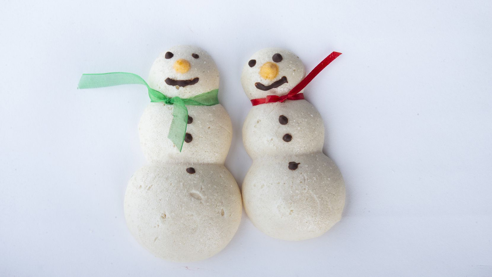 The meringue snowman cookies made by Phyllis Bustillos won third place in the special diet category of the 24th annual Christmas Cookie Contest
