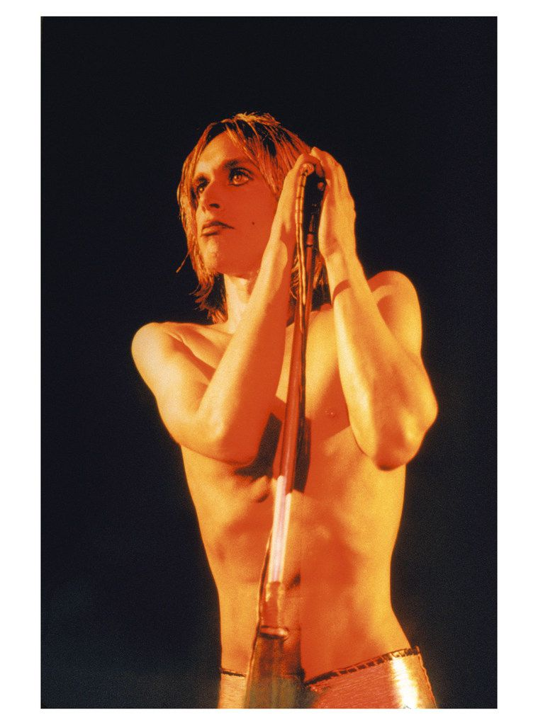 Iggy Pop is pictured in 1972 on the cover of the album Raw Power.