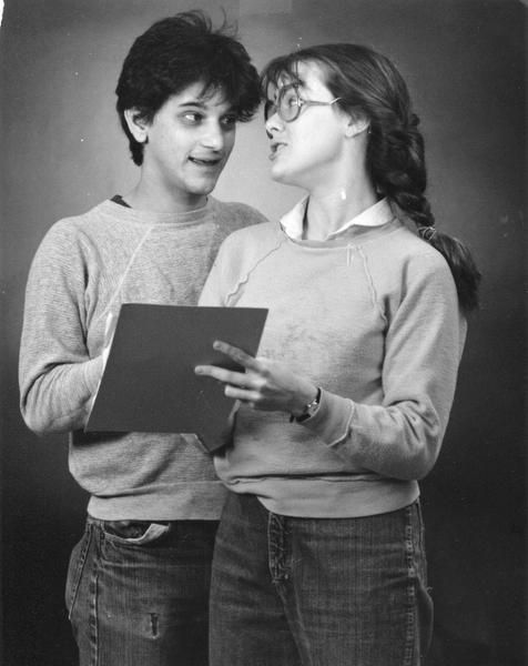 Karl (left) and Nancy Schaeffer perform in A Wrinkle in Time during the Dallas Children's Theater's first season in 1984.
