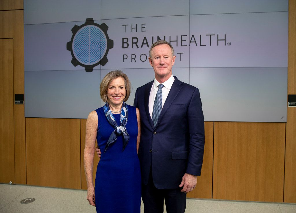 Georgeann and Bill McRaven at the Center for Brain Health. They are the national spokescouple for the BrainHealth Project.