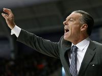 TCU Horned Frogs head coach Jamie Dixon yells from the bench during the second half against the Iowa State Cyclones at Ed & Rae Schollmaier Arena in Fort Worth, Texas, Saturday, Jan. 14, 2017.