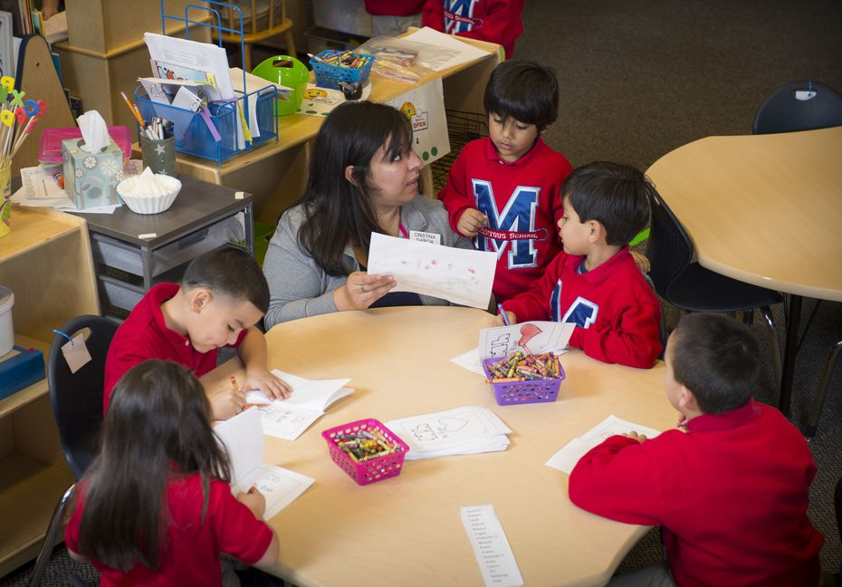 A Momentous School classroom at the institute's Oak Cliff campus.
