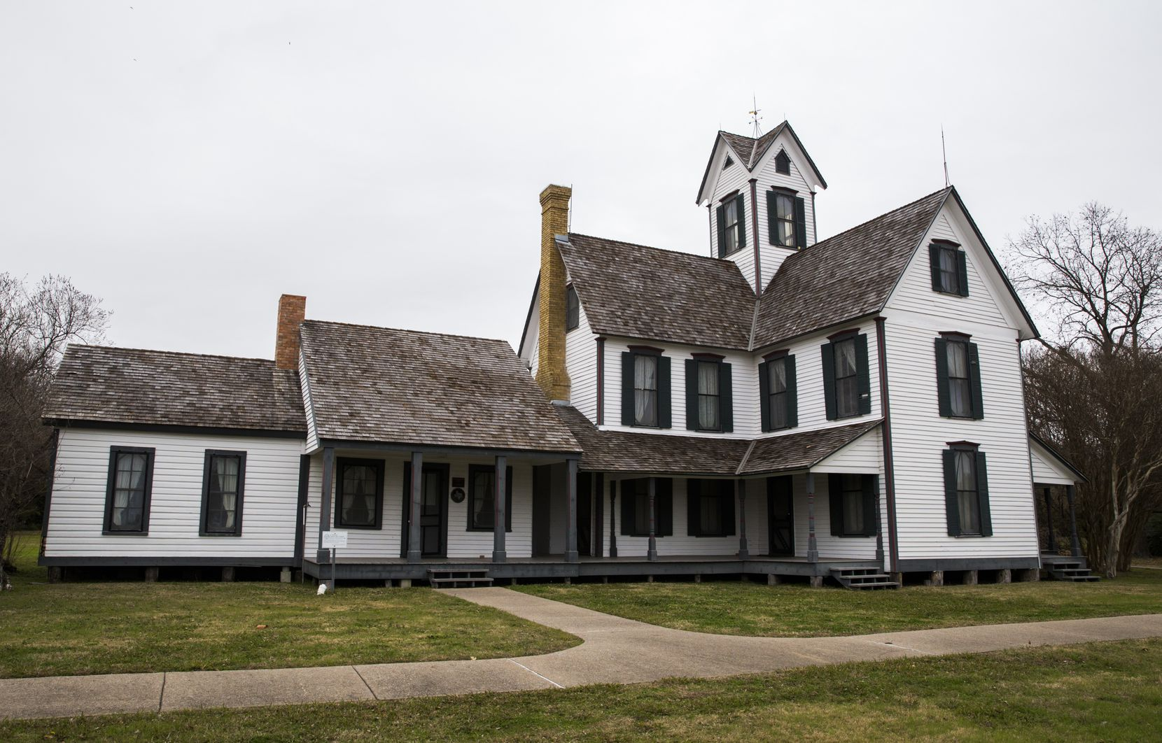 The Stephen Decatur Lawrence Farmstead, as photographed on Friday, December 20, 2019 at Opal Lawrence Historical Park in Mesquite. It was built in 1874.