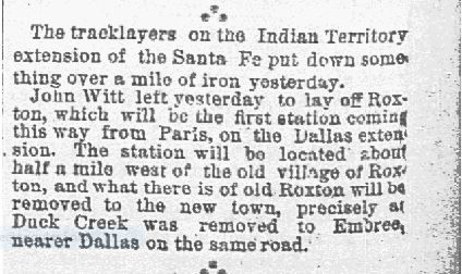 The Dallas Morning News snip was published on Jan. 27, 1887.