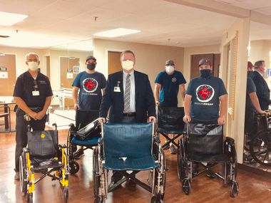 Medical City McKinney Hospital is donating wheelchairs and other medical supplies to Mission Regan after moving a pair of units to its main campus.