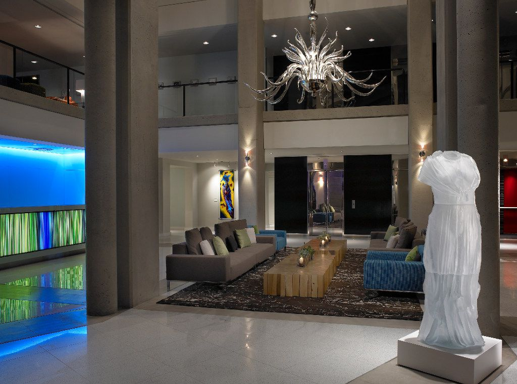 Lobby of the Hotel Murano in Tacoma.