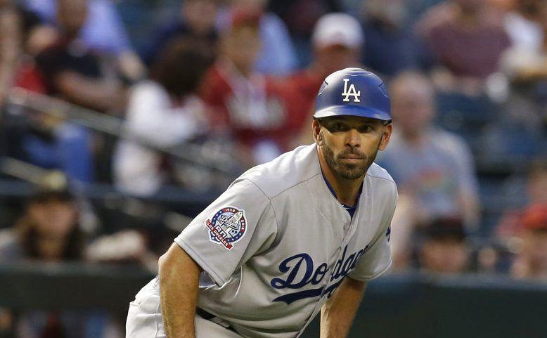 El ex coach de tercera base de los Dodgers Chris Woodward (45) fue contratado como nuevo mánager de los Rangers de Texas. (AP Photo/Rick Scuteri, File)