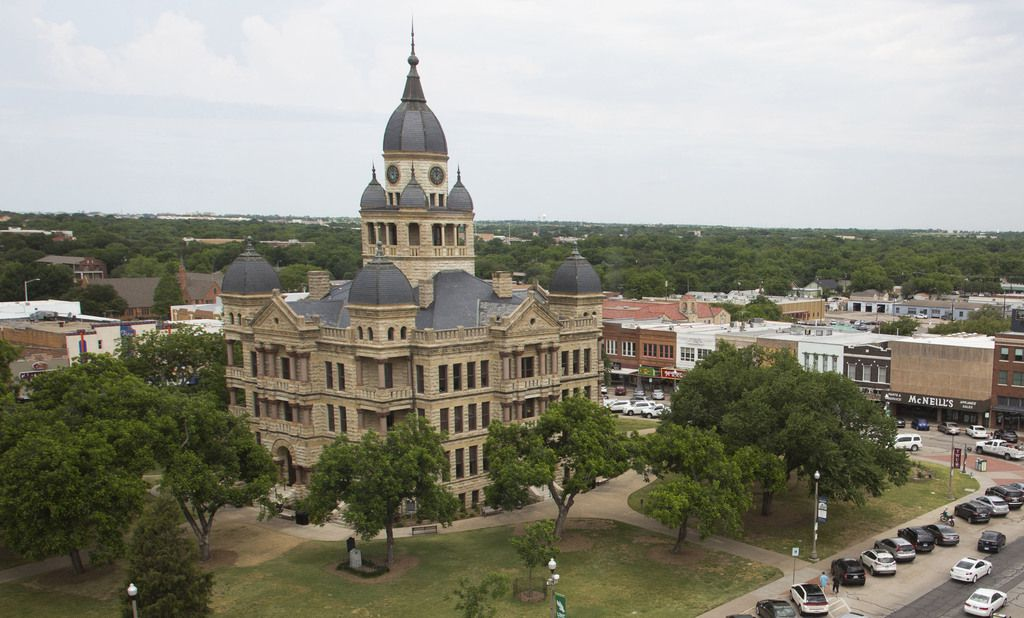 The Denton County Courthouse-on-the-Square is pictured. Denton County Commissioners unanimously voted in a meeting on Friday to designate $2.2 million to a grant program for local, small businesses that have been affected by the COVID-19 pandemic.