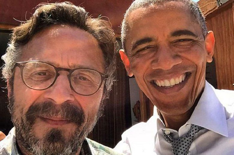 Marc Maron and his new pal Barack (via Marc Maron's Instagram)