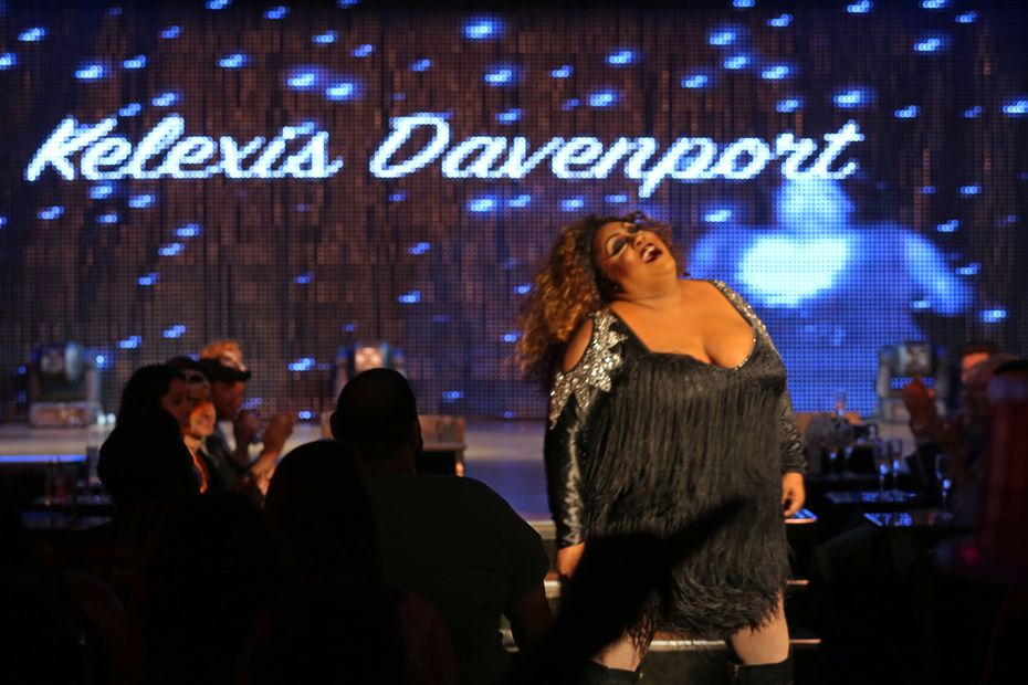 "Kelexis Davenport performs at the long-running ""Rising Star"" drag queen competition at the Rose Room on Cedar Springs Road in Dallas."