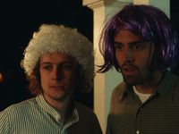"Logan Miller (left) and Cooper Raiff star in ""S---house."" The film's soundtrack features a number of local artists."