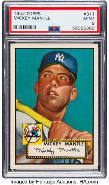 You'll need a cool $1.95 million to submit a bid for the rare mint card.
