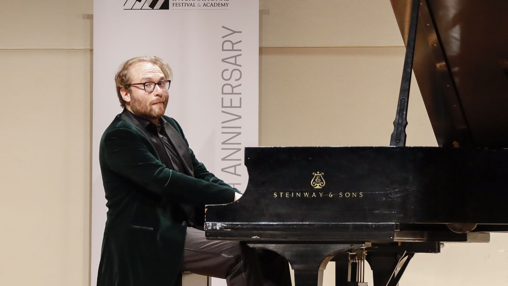 Pianist Adam Golka performs at Ed Landreth Auditorium at Texas Christian University on June 26, 2021, in Fort Worth. It was part of the 2021 PianoTexas International Festival and Academy.