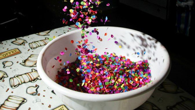 The confetti used for Easter eggs that are prepared and sold by The Mixing Bowl Bakery, on March 27, 2011 at their Oak Cliff bakery in Dallas. BEN TORRES/Special Contributor