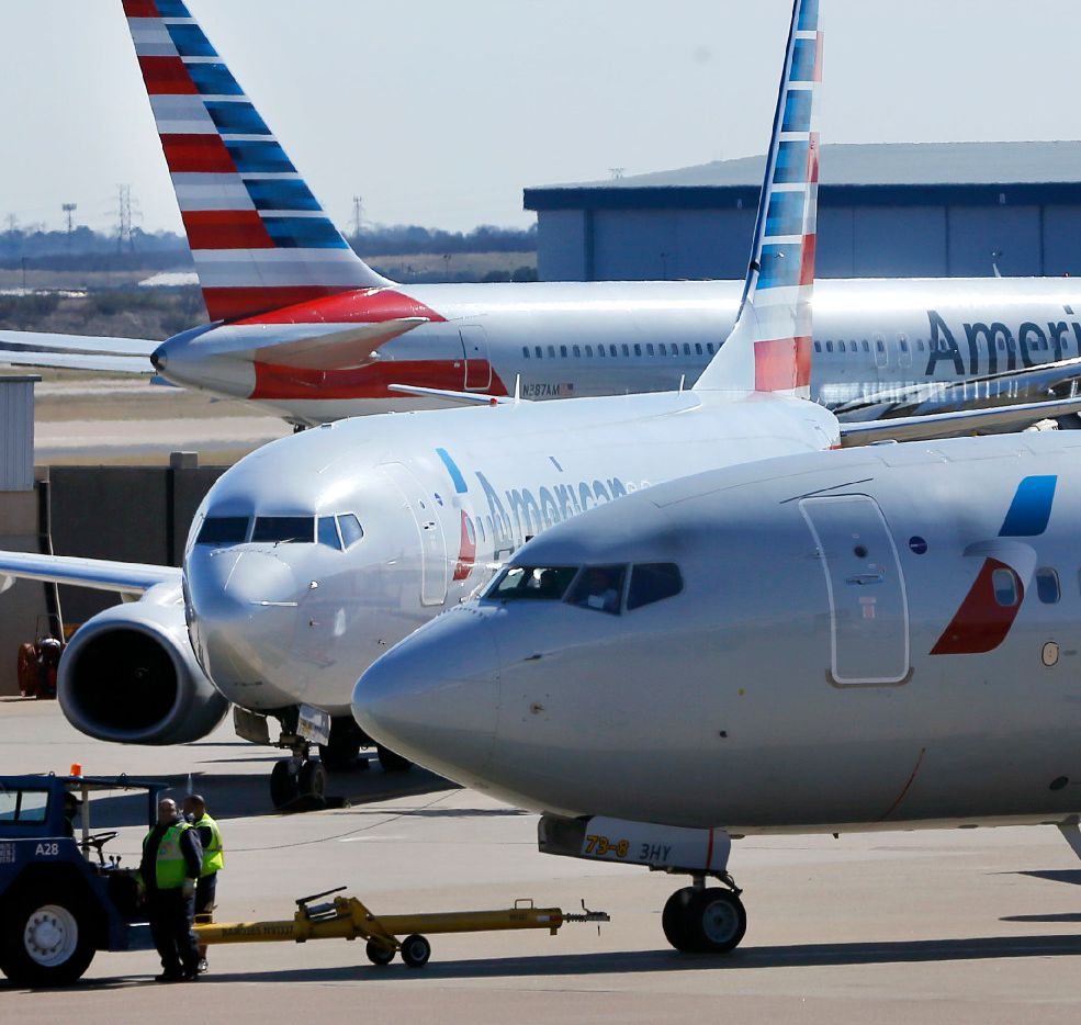 American Airlines planes move about the tarmac at Terminal A at Dallas-Fort Worth International Airport, Thursday, January 25, 2017. (Tom Fox/The Dallas Morning News)