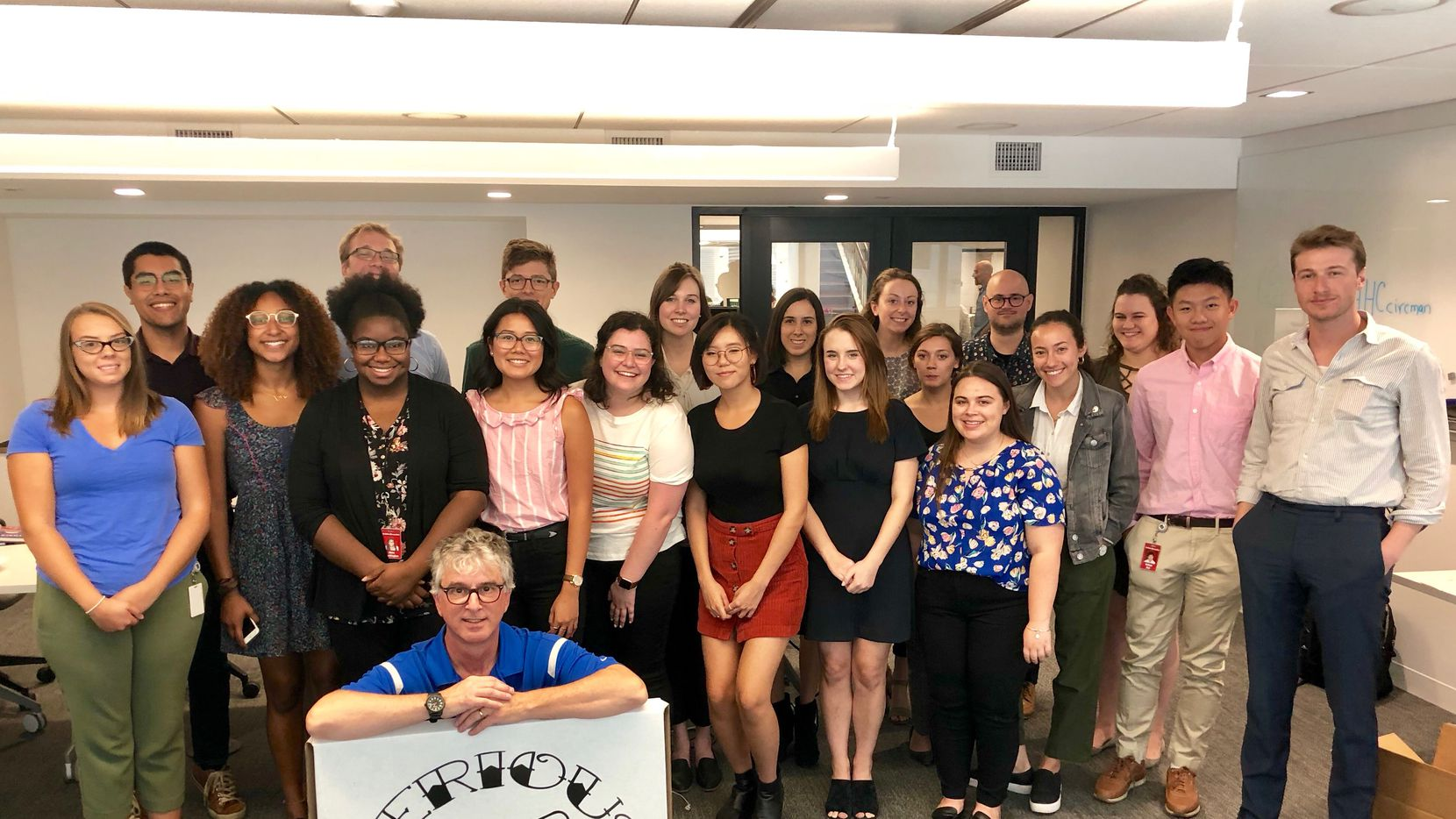 The 2018 Dallas Morning News interns with Watchdog columnist Dave Lieber