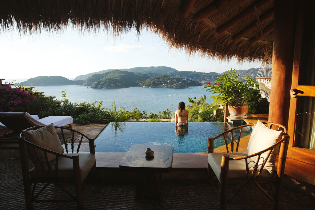 Suites at the Amuleto hotel in Zihuatanejo, Mexico, come with their own plunge pools.